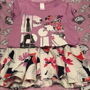 Gymboree Girls 2-pc Floral Top and Skirt Set